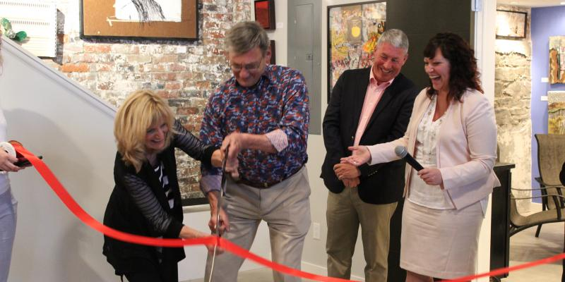 Ribbon cutting at Quintus Gallery